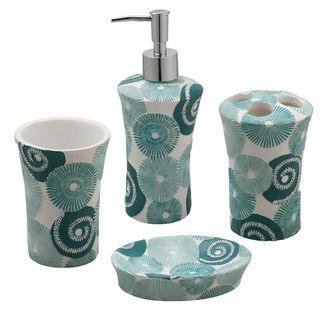 Jovi Home Parasols Bath Accessory 4 Piece Set By Jovi Home
