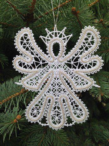 Advanced Embroidery Designs - Freestanding Battenberg Lace Dancing Angel II