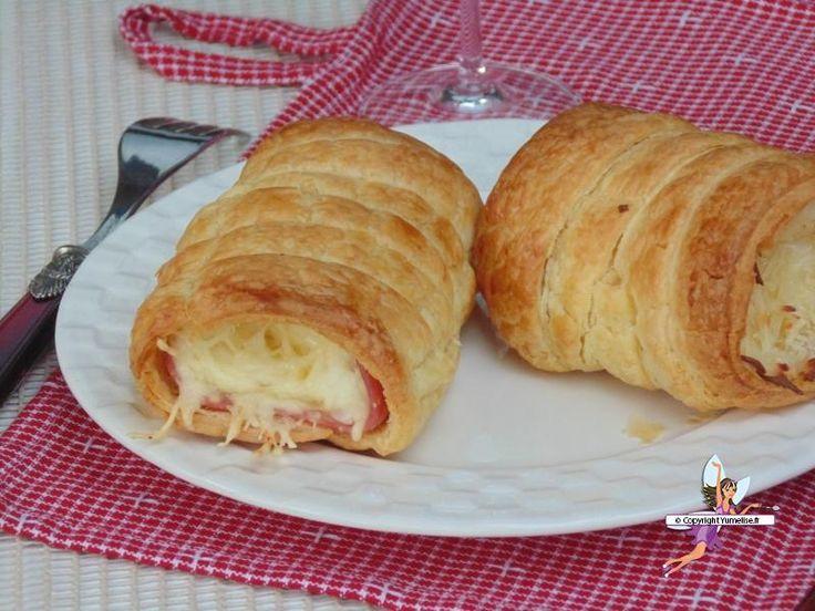 Roulés au jambon et fromage - Yumelise
