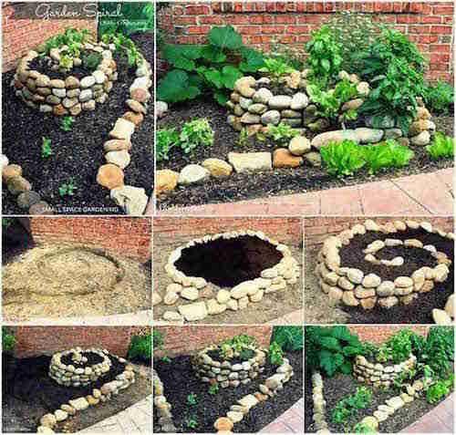 Beau jardin avec galets