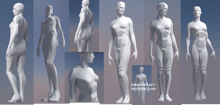 Female figure model by AlexanderLee1 | Art studies | Pinterest ...