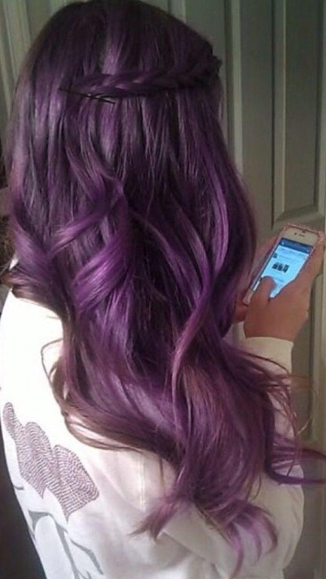 Long Purple Haze Hair
