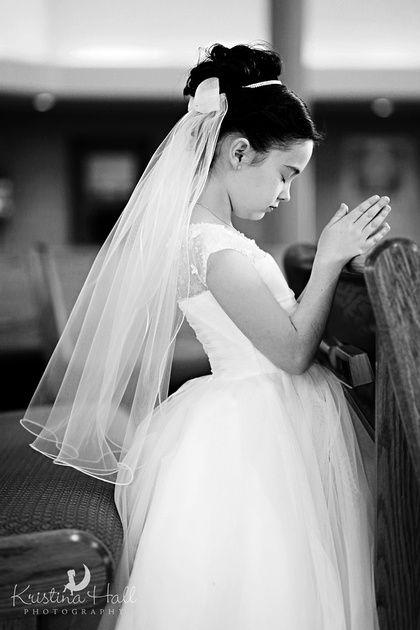 Inside Church Communion Portraits              © Kristina Hall Photography  www.kristinahallphotography.com #Communion