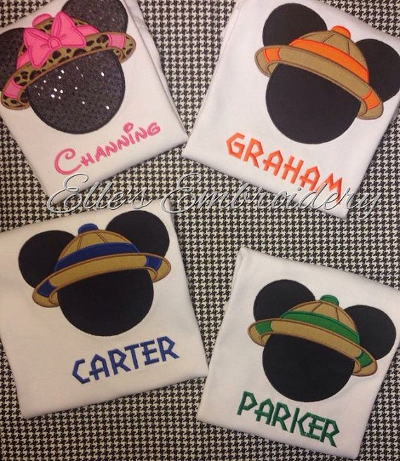 Safari Mickey & Minnie are perfect to wear for Disney trips, especially to Animal Kingdom! Each shirt is custom made to order. You may choose the