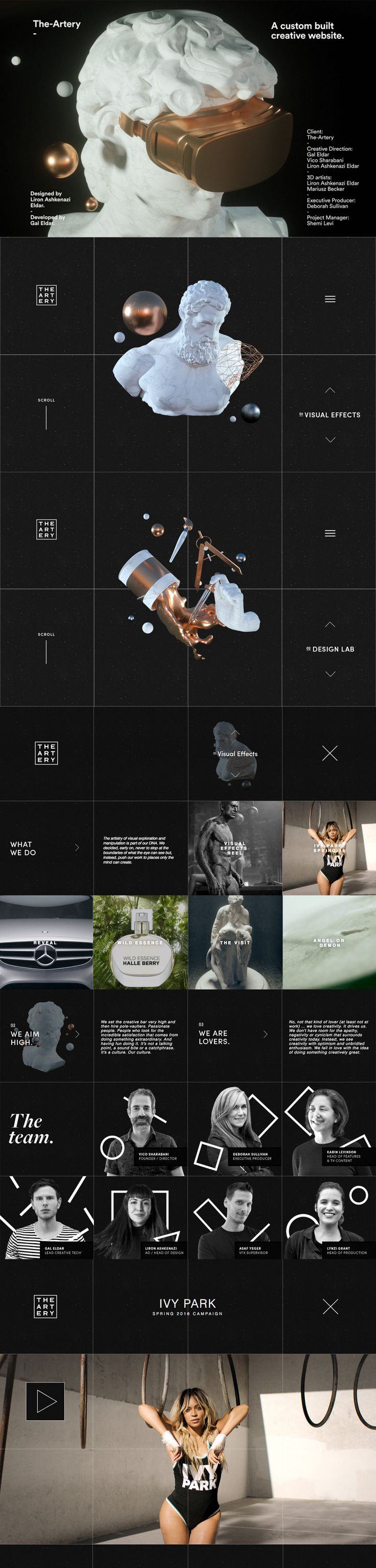 Site of the day: The Artery See more: http://mindsparklemag.com/website/the-artery/  The Artery is a beautifully designed site that is featured as Site of the Day on design blog, Mindsparkle Mag