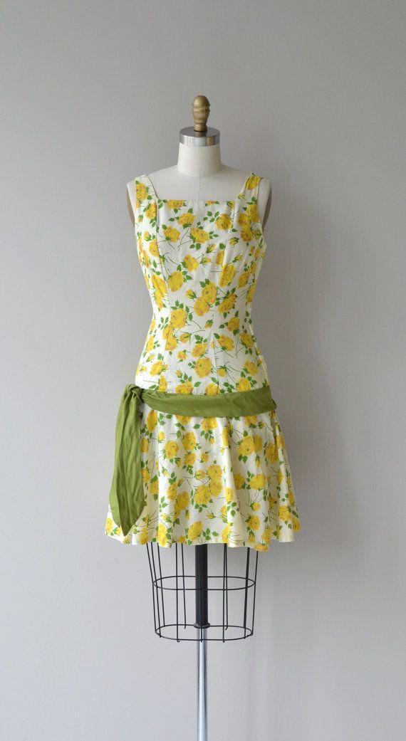 Texas Rose dress vintage 1960s dress 60s floral by DearGolden