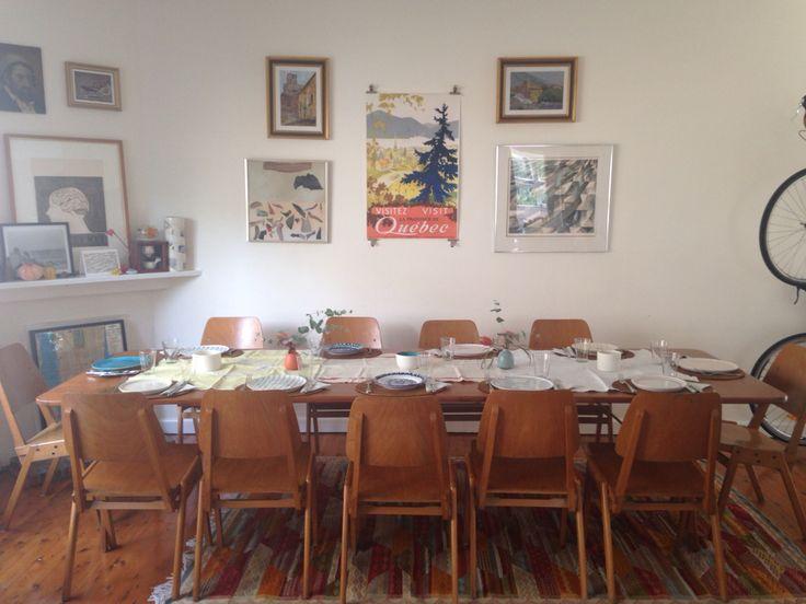 Dinner set for 11 friends
