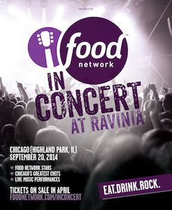Food Network Stars and John Mayer to Perform at Ravinia. Sounds like a great event.