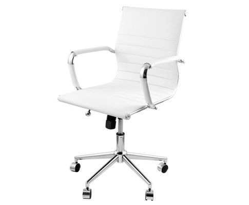 This Eames Replica PU Leather Designer Office Chair provides comfortable seating and a sophisticated feel to your office or home at one time whilst keeping the price affordable. If simplicity is what you are looking for, you cannot miss this office chair as it allows you to sit back comfortably.   http://www.rosaelonline.com.au/product/eames-replica-pu-leather-executive-designer-office-chair-white/