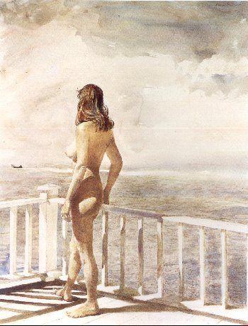 """Leaving""_Andrew Wyeth"