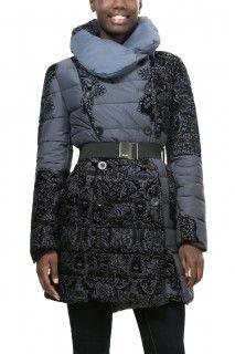 Desigual šedý zimní kabát Veronica