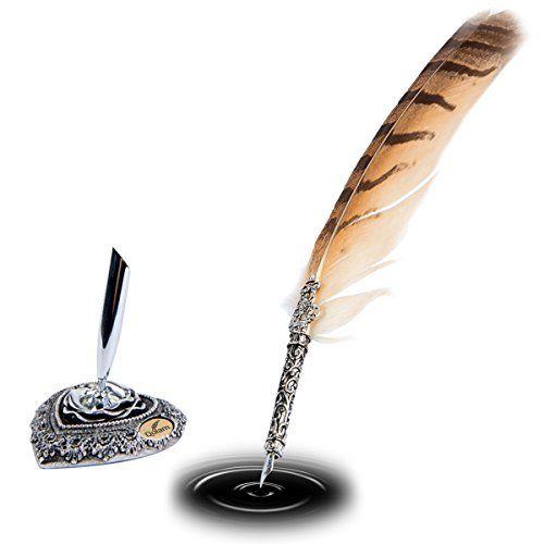 Best antique feather pen set images on pinterest
