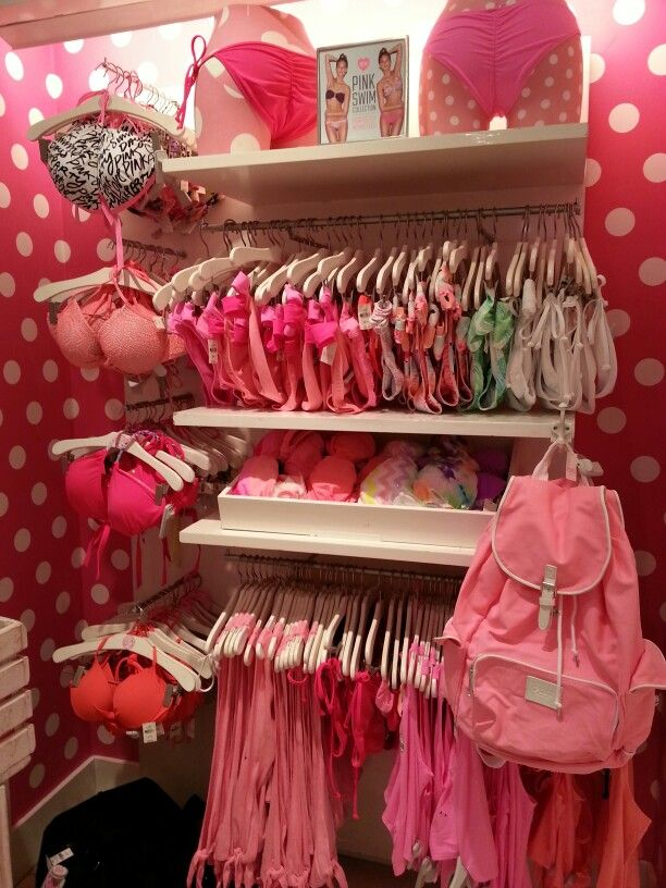 c017a2ee0b041 Vs pink....Lingerie section of my closet | Room Ideas | Victoria ...