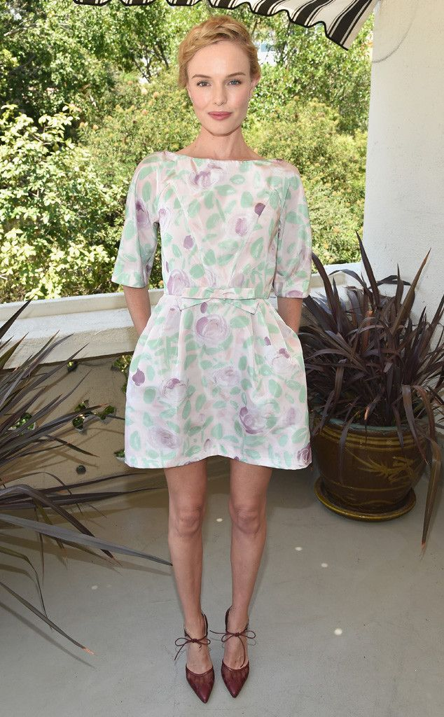 Flirty Florals from Kate Bosworth's Best Looks  In RED Valentino.