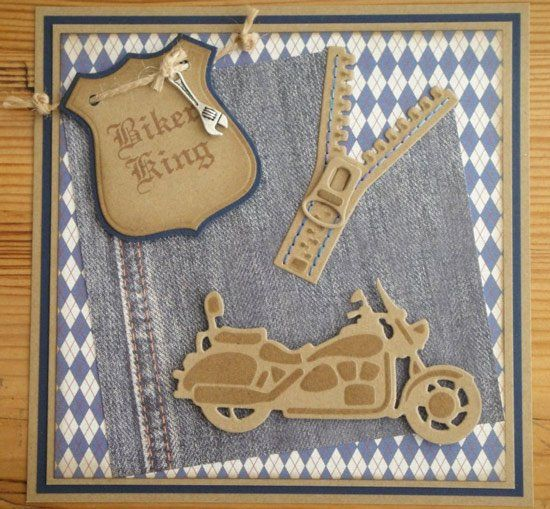 Card Gallery - Marianne Design.... masculine card by Liza and Jeannette