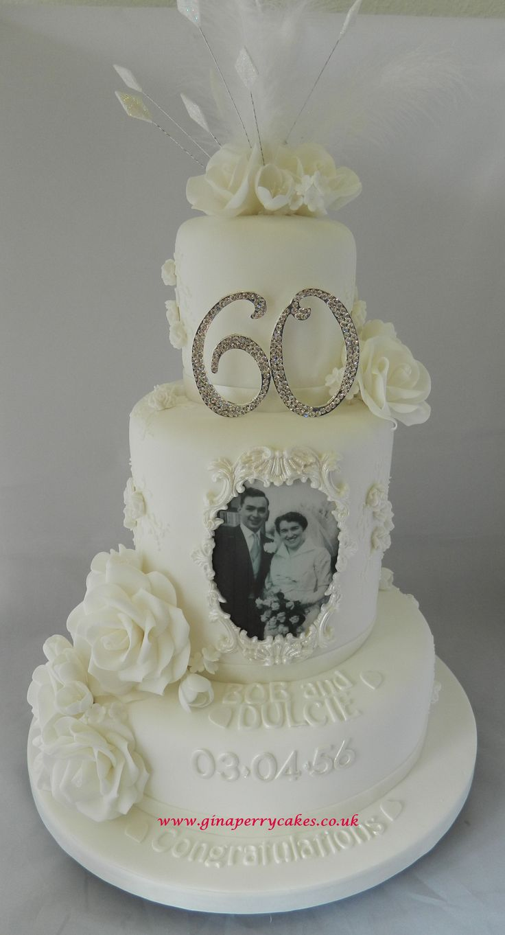 Diamond Anniversary wedding cake