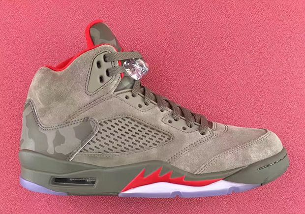 The Air Jordan 5 Camo (Style Code: 136027-051) is set to release on September 2nd, 2017 alongside a number of other retros. More: