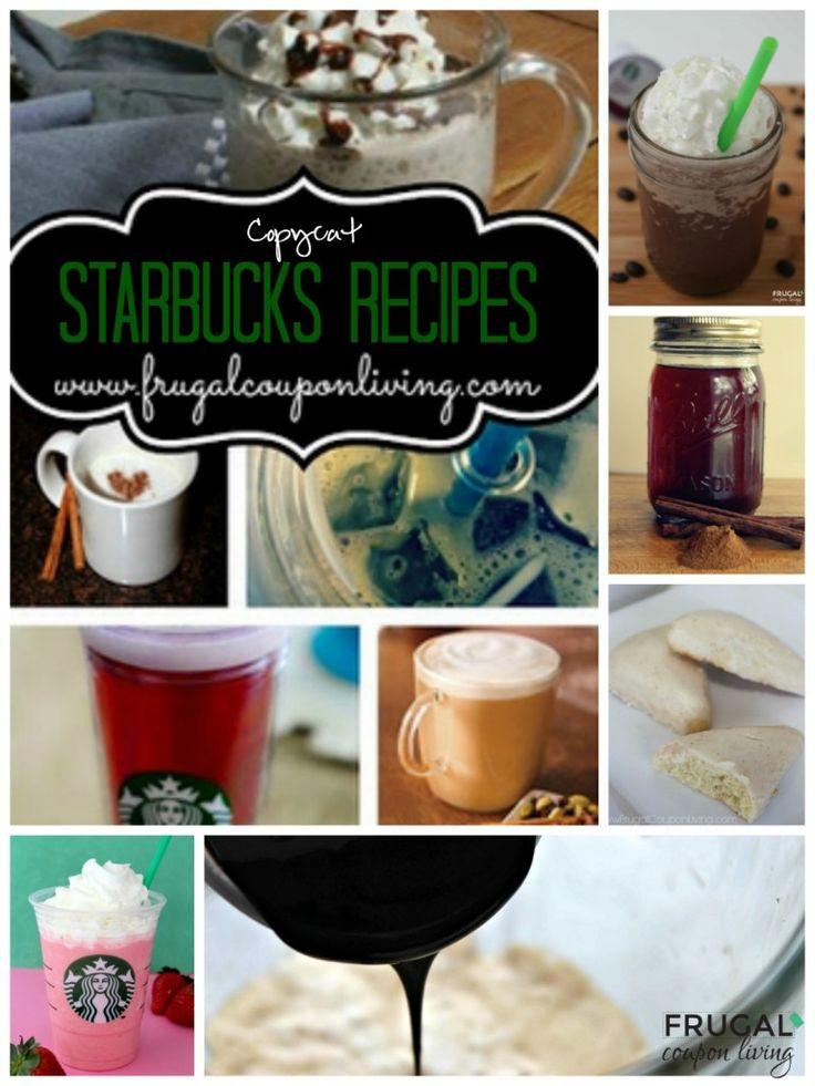 Ten Copy-Cat Starbucks Recipes #Recipe #Starbucks