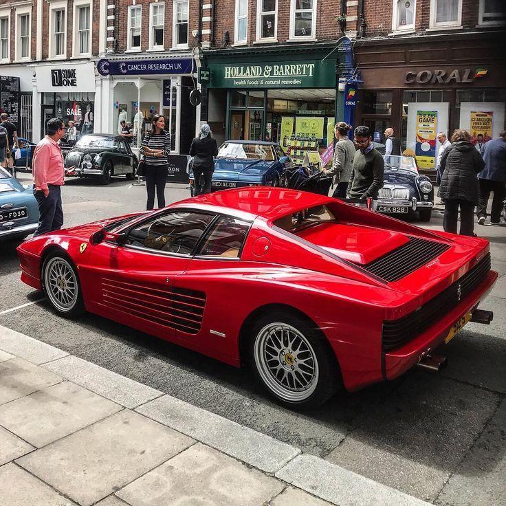 Stunning Testarossa #Ferrari #Testarossa #London