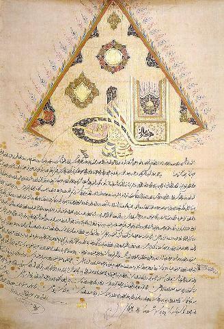 Ferman of Sultan Selim III-1795