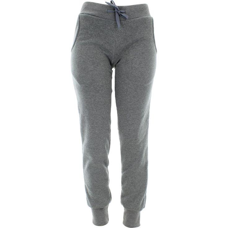 Rok - Women's Basic Fleece Bottom Joggers - Heather Grey