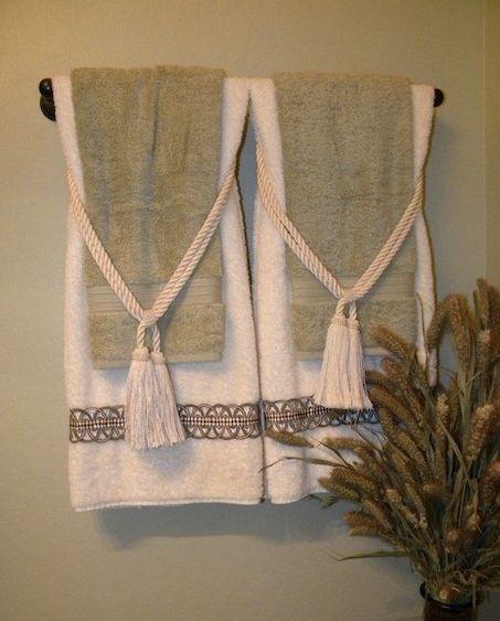 21 best decorative towel folding images on pinterest bathroom towels bathroom and bathrooms. Black Bedroom Furniture Sets. Home Design Ideas