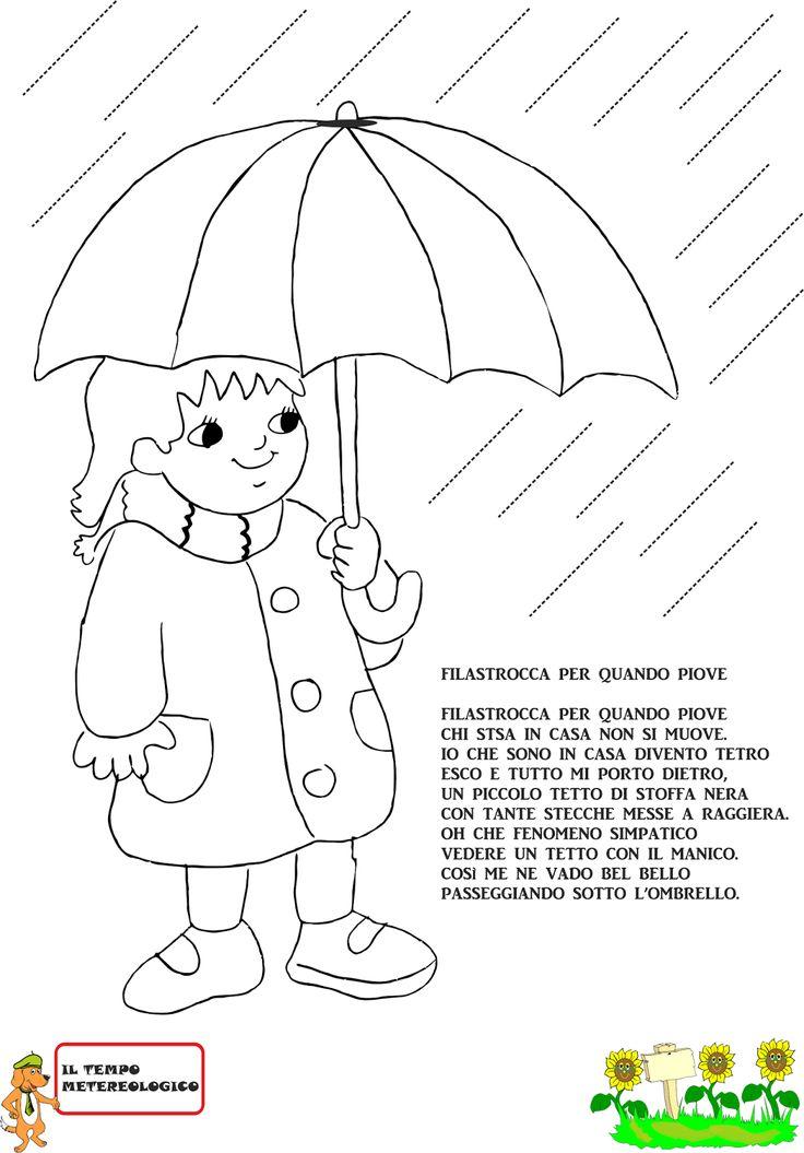 A Scuola con Poldo: Schede sulla pioggia