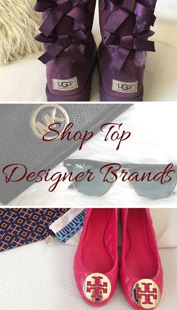 Shop top designer brands, like Nike, Tory Burch