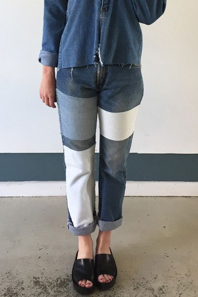 B Sides Patchwork Jeans
