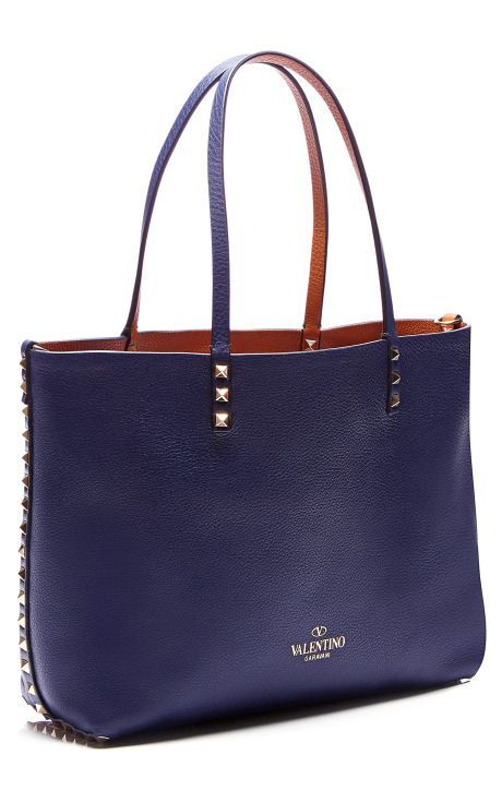 Valentino's Reversible Leather 'Rockstud' Tote