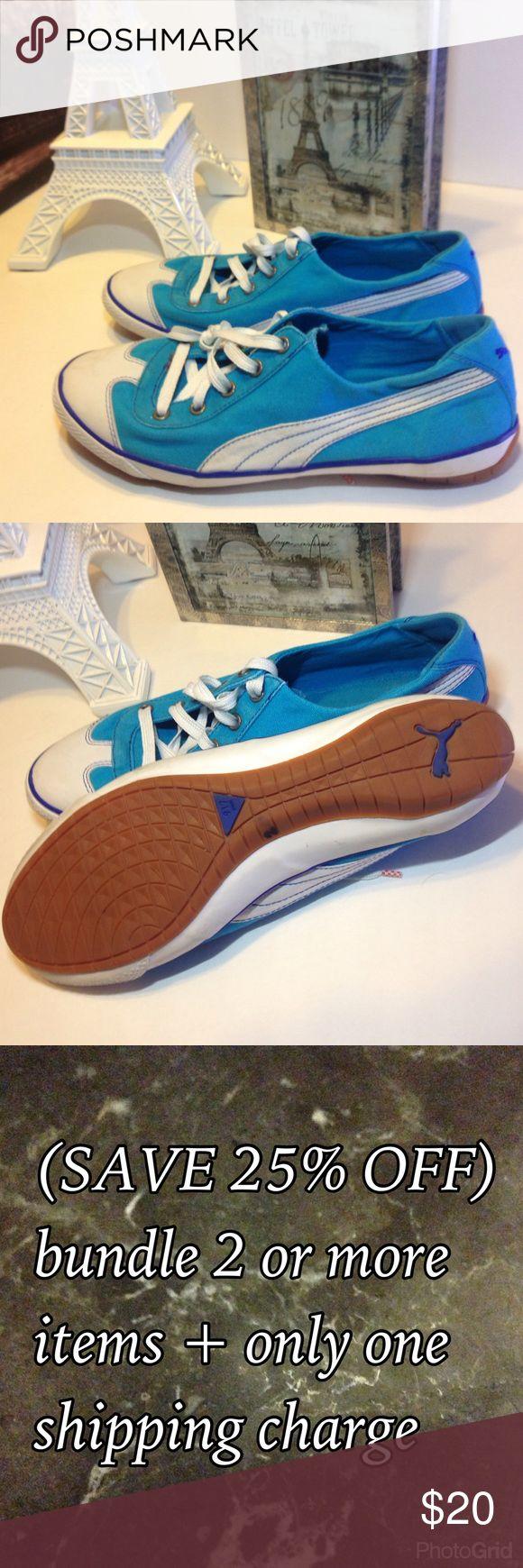 Puma 😼 ladies tennis shoes sneakers blue size 7.5 Puma 😼 ladies tennis shoes sneakers blue size 7.5 Puma Shoes Sneakers