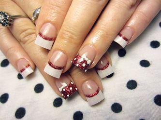 French Twist - Acrylic nail art designs