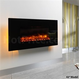 Be Modern Orlando Wall Mounted Electric Fire - Flat Glass - Hotprice.co.uk