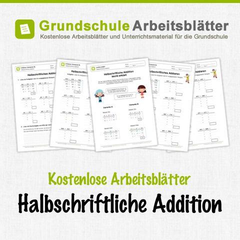 Kostenlose Arbeitsblätter Halbschriftliche Addition   Lernen ...