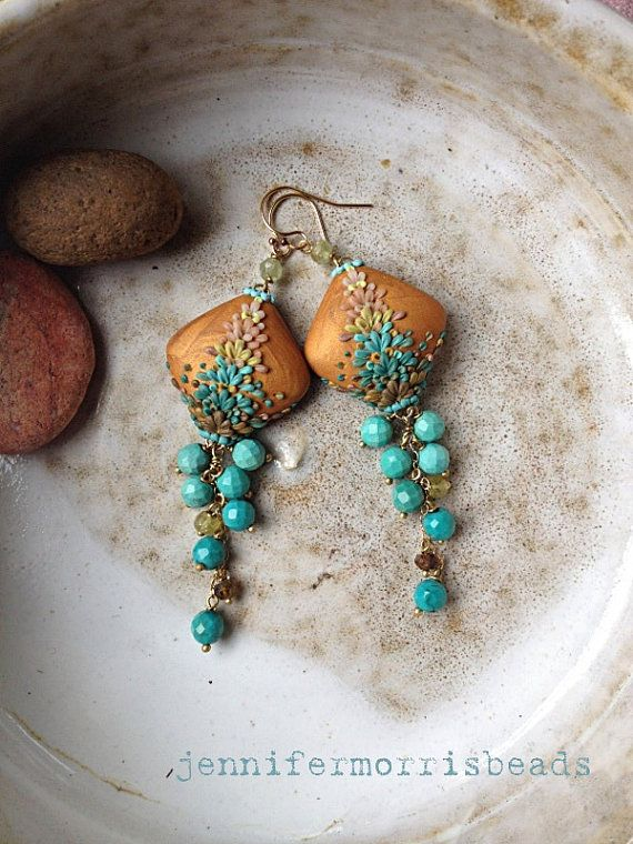 kites over tangier embroidery inspired by hombre earrings by jennifermorrisbeads