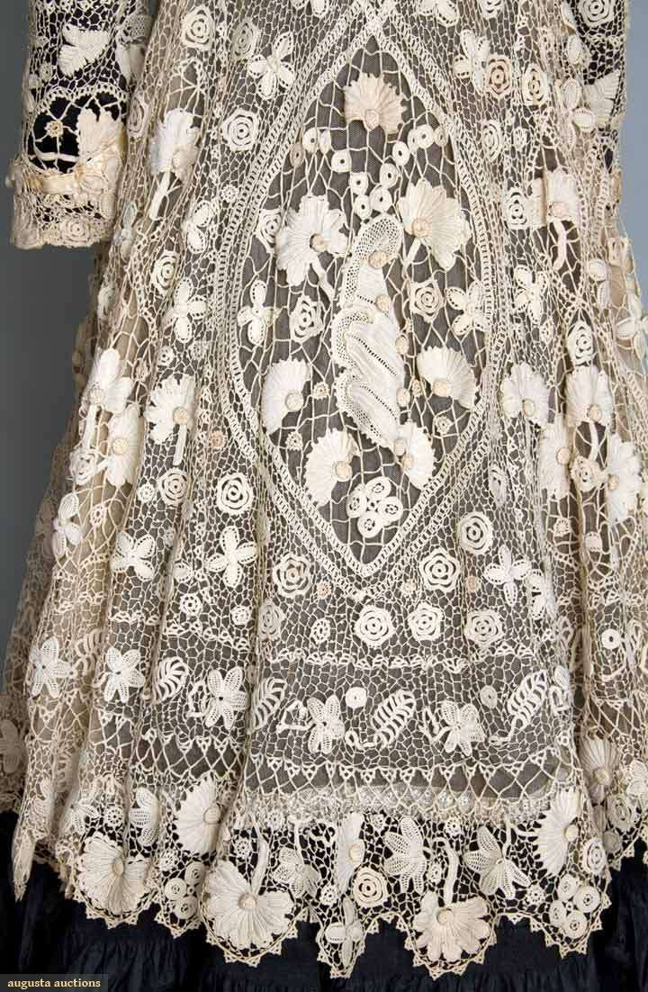 Best 25 irish lace ideas on pinterest diy embroidery lace irish crochet coat 1905 centre detail back view bankloansurffo Image collections