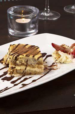 Delicious Desserts served on Royal Porcelain Titan Crockery
