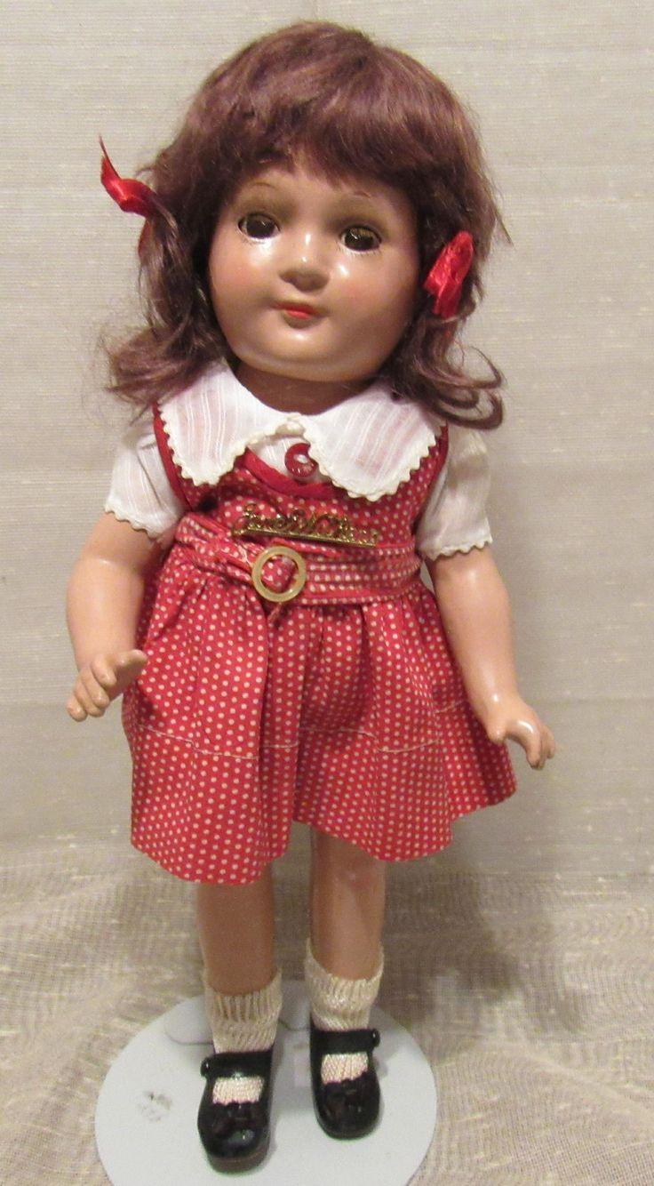 Vintage Madame Alexander HTF All Original Rare Size  12' 'Jane Withers Doll' Circa 1937