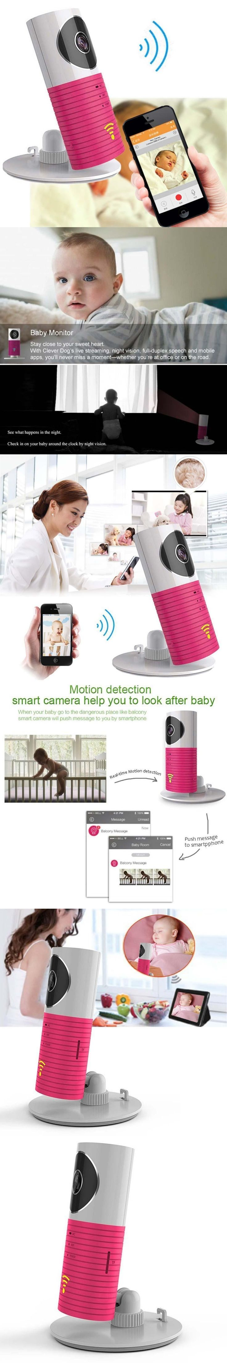 CCTV Wireless Security Camera Baby Monitor IP Smartphone Video Night Vision 2 Way Talkback With Motion activated Cell Alert