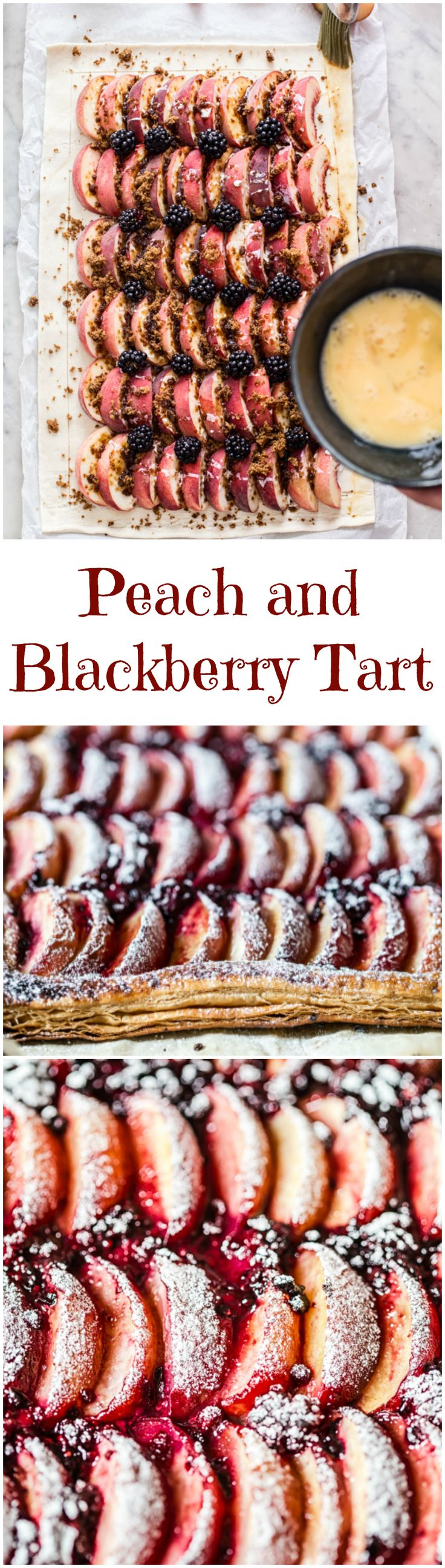 If you need dessert on the table within 45 minutes, this peach and blackberry tart made with prepared all-butter puff pastry is your answer!