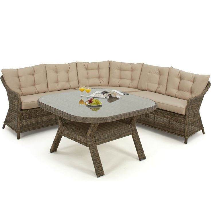 Maze Rattan Winchester Rounded Corner Dining Set