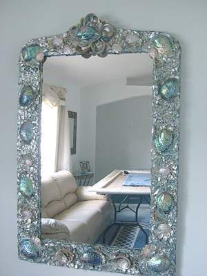 Heavenly Ocean's Abalone, Large Seashell Mirror Decor