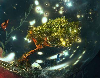 """Check out new work on my @Behance portfolio: """"Underwater garden"""" http://be.net/gallery/49974937/Underwater-garden"""