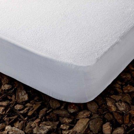 Salva colchón impermeable. Protector de colchon Vent transpirable e impermeable de la casa Cotopur. Composición: Algodón natural 100%  Rizo 100% algodón de 180g/m Base: Poliuretano PU Impermeable WaterProof Transpirable Breathable.