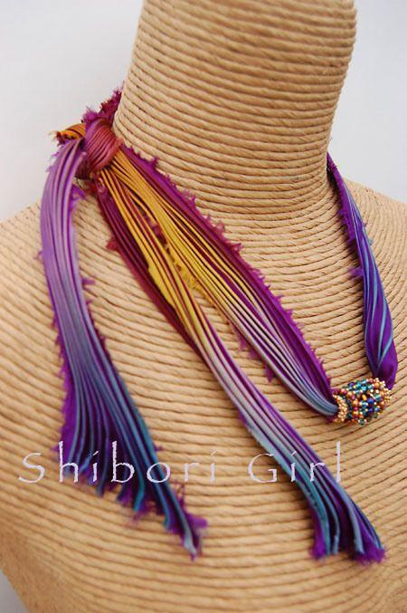 Glennis Dolce, Shibori Girl...jewelry designer and SHIBORI SILK MASTER! Ribbons now in my store...www.stinkydogbeads.com