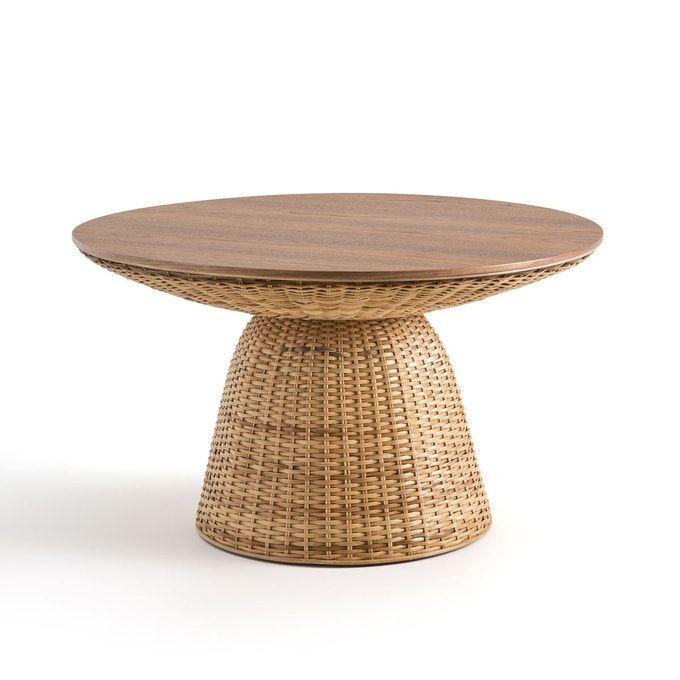 Table Basse En Rotin Avata Noyer La Redoute Interieurs La Redoute Table Basse Table Basse Rotin Table Basse Ronde
