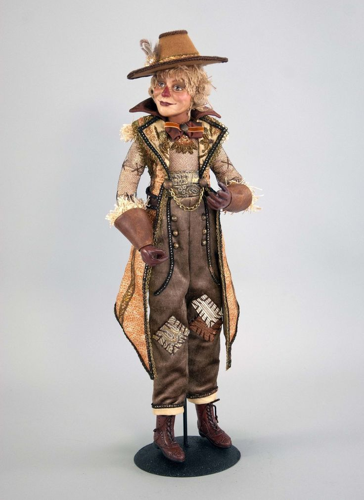 """Katherine's Collection The Gilded Seasons Collection 24"""" Scarecrow Doll Free Ship"""