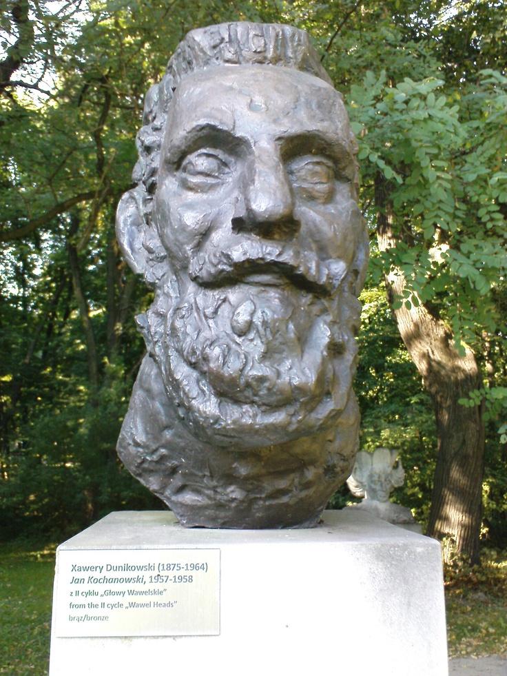 xawery dunikowski, jan kochanowski (z cyklu: głowy wawelskie), 1957-58, brąz, królikarnia-warszawa