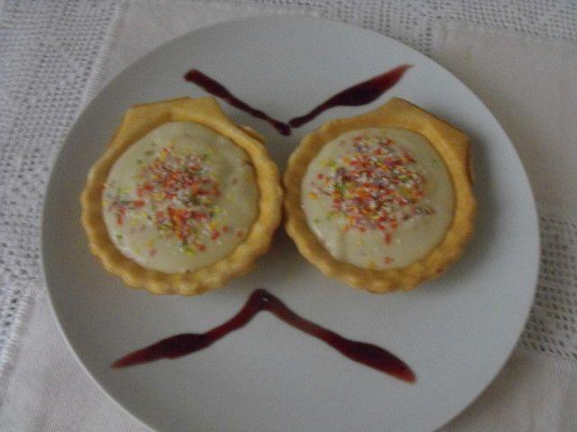 Conchas rellenas de manzana y queso