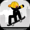 Download Stickman Skate:  Stickman Skate  V 4 for Android 4.1+ You like skate games and stickman games? This game is made for you! Enter the arena to become a Stickman Skater. You must ride along the city. You must realize the best tricks and the best jumps to complete each level.  You also need to manage your...  #Apps #androidgame ##PLAYTOUCH  ##Arcade